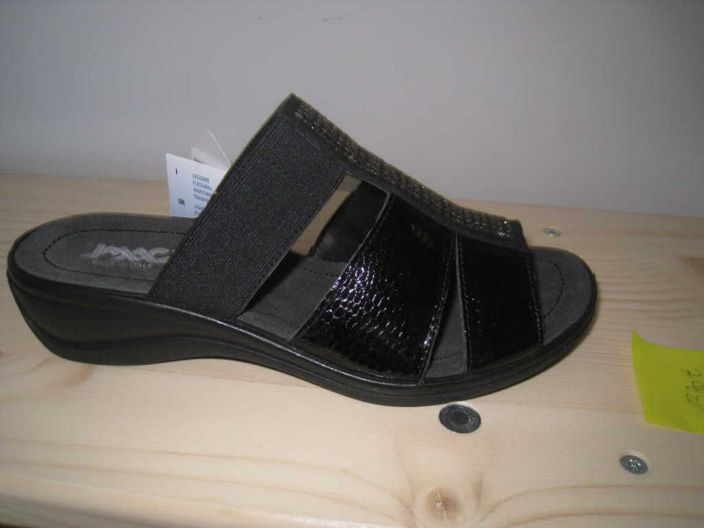 imac Damen  Pantolette Sandalen Hausschuhe schwarz